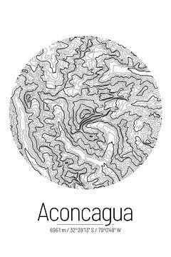 Aconcagua | Topographie de la carte (minimum) sur City Maps