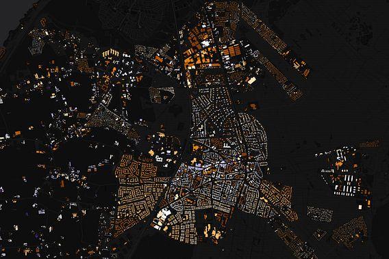 Kaart van Ermelo abstract