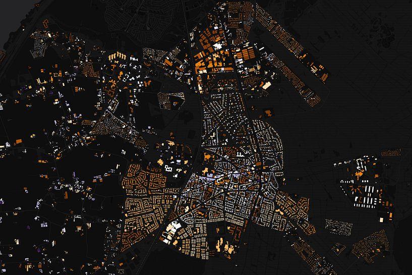 Kaart van Ermelo abstract van Stef Verdonk
