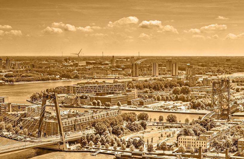 Drie Rotterdamse bruggen - monochroom van Frans Blok