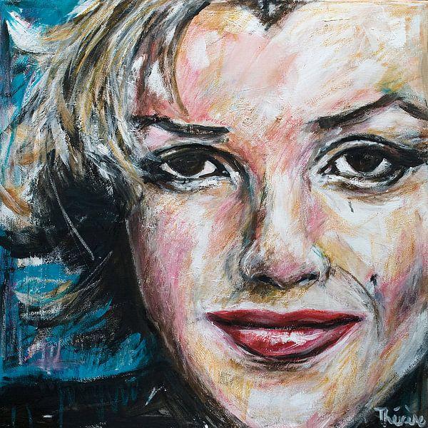 Porträtgemälde von Marilyn Monroe. von Therese Brals