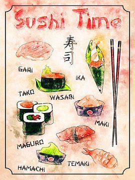 sushi van Printed Artings