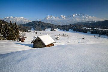 Paysage d'hiver en Haute-Bavière sur Achim Thomae