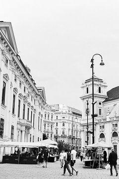 Die schönen Straßen von Wien | Österreich |Architektur |Schwarzweißfotografie von Mirjam Broekhof