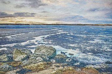 Laag water in de fjord
