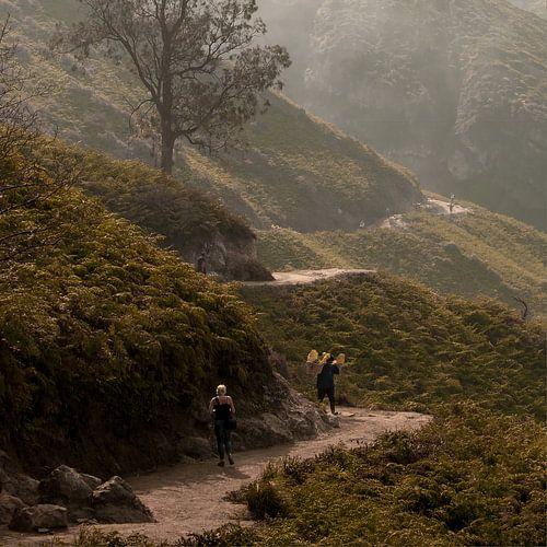 De weg naar Kawah Ijen van Sander Strijdhorst
