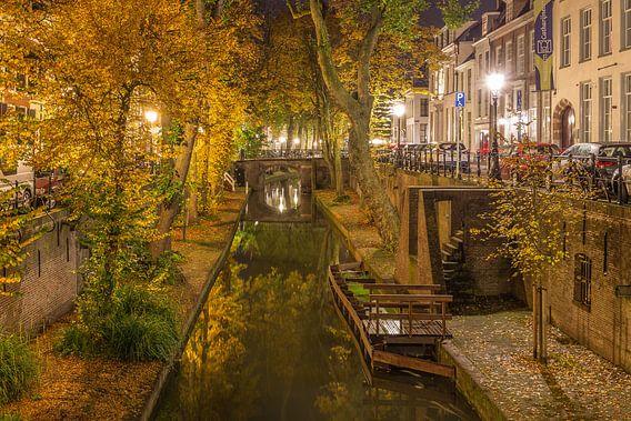 Nieuwegracht in Utrecht in de avond - 10