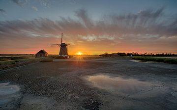 Poldermolen het Noorden op Texel van