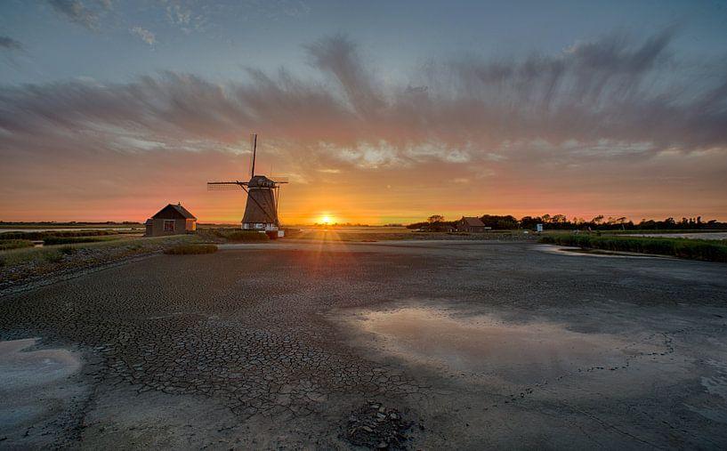 Poldermolen het Noorden op Texel van Johannes Stouten