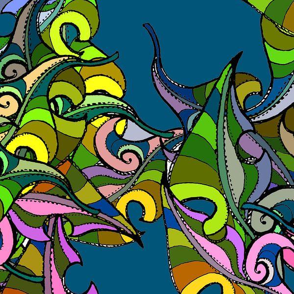 GRAFISCHE PRINT BLADEREN LOOFBOOM sur MY ARTIE WALL