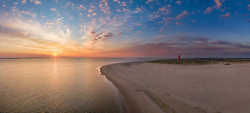 Vuurtoren Eierland - Texel - zonsopkomst van Texel360Fotografie Richard Heerschap