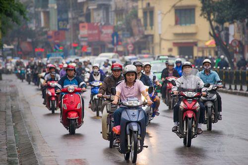 Motorbike in street
