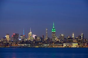 New York Skyline in de avond - Midtown Manhattan