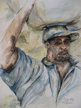 Ein gambischer Mann. von Ineke de Rijk