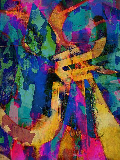 Modern, Abstract kunstwerk - I Remember The Days (Rechts) van Art  By Dominic