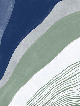 Blauwgroen abstract iv, Danhui Nai van Wild Apple