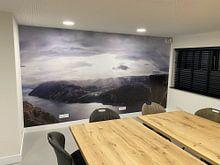 Klantfoto: Preikestolen Noorwegen van Marloes van Pareren, als naadloos behang