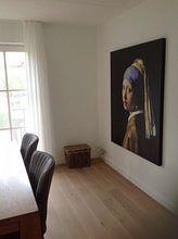 Kundenfoto: Das Mädchen mit dem Perlenohrgehänge - Vermeer Gemälde, auf leinwand