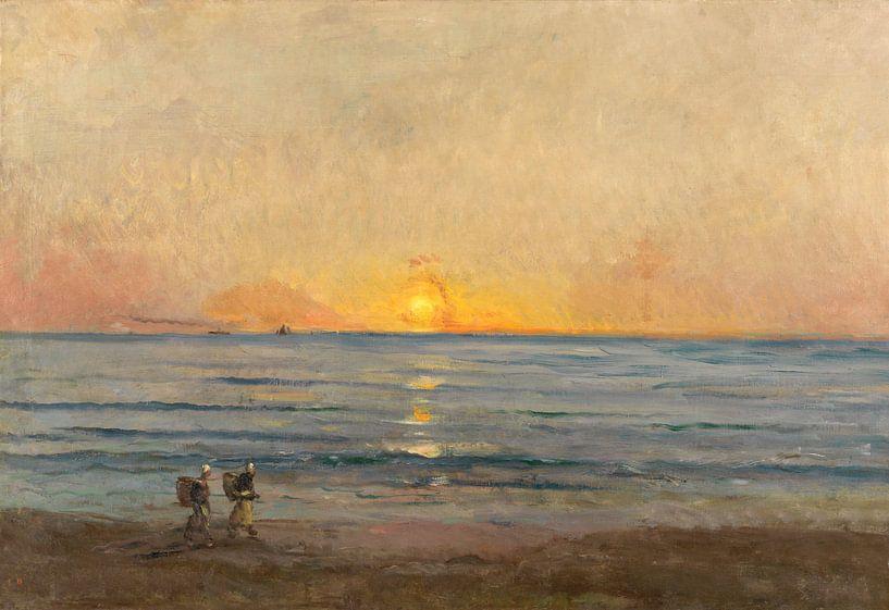 Sonnenuntergang bei Villerville, Charles François Daubigny von Meesterlijcke Meesters