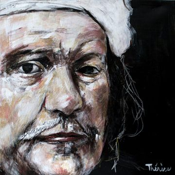 Porträt von Rembrandt van Rijn. von Therese Brals