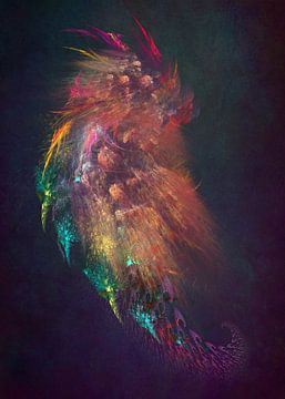 Fraktale abstrakte Kunst Drache #Fraktale #Abstrakt von JBJart Justyna Jaszke