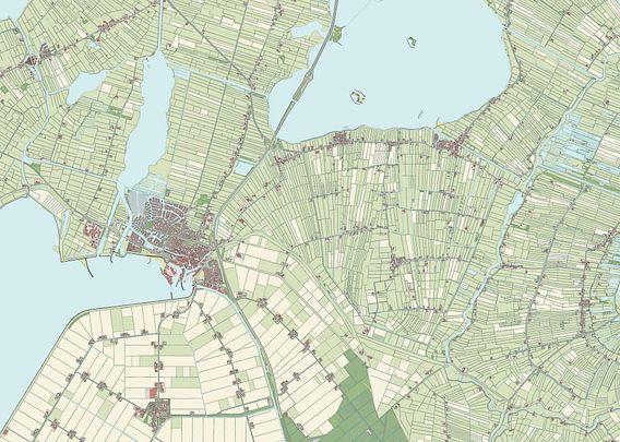 Kaart vanLemsterland van Rebel Ontwerp