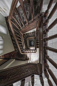 Een mooie verlaten traphal