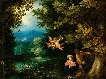 Rast auf der Flucht nach Ägypten, Hans Rottenhammer, Jan Brueghel der Ältere
