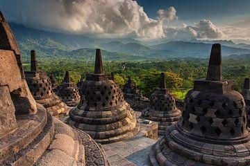 Le temple de Borobudur sur Ilya Korzelius