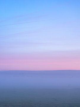 Pastel zonsopkomst van Rauw Works