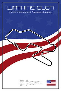 Watkins Glen Racetrack van Theodor Decker