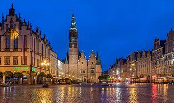 Avond in Wrocław, Polen van Adelheid Smitt