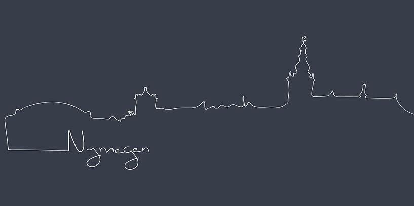 Skyline-Linien von Nimwegen von Anne Dellaert