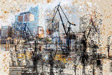 Hamburg abstrakt von Agostino Lo Coco