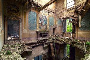 De ingestorte villa