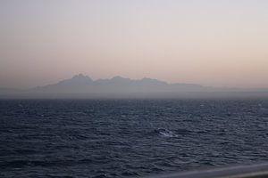 Zandstorm afrika vanaf zee
