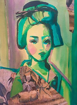 Pink Cheeks van Helia Tayebi Art