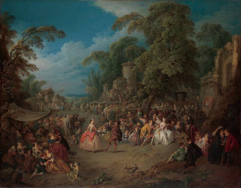 Jean-Baptiste Joseph Pater, The Fair at Bezons van Meesterlijcke Meesters