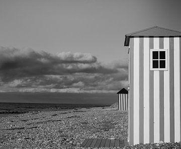 Strandhuisjes in Denemarken van Manon Zandt