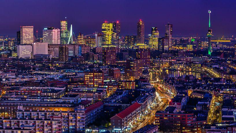Skyline van Rotterdam van Ellen van den Doel