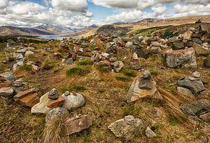 Uitzicht van gedenken bij Loch Loyne, Schotland
