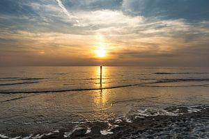 Texel Paal 9 zonsondergang