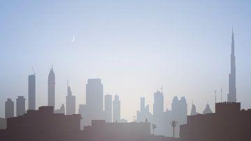 Skyline van Dubai bij zonsopkomst van Govart (Govert van der Heijden)