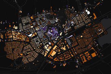 Kaart van Woerden abstract von Stef Verdonk