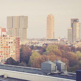 skyline van Rotterdam van Bram Huijzen