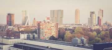 skyline van Rotterdam von Bram Huijzen