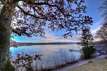 Blauw uur aan het Starnberg-meer van Roith Fotografie