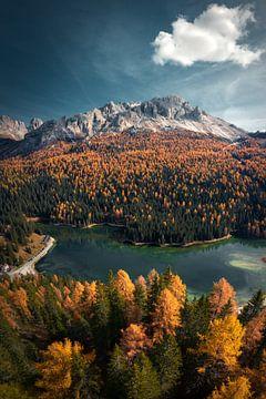 De Dolomieten in de herfst van Niels Tichelaar