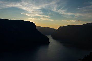 Aurlandsfjord Noorwegen van Eline Huizenga