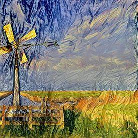 Peinture numérique Moulin à Poudre Classique sur Photo Henk van Dijk